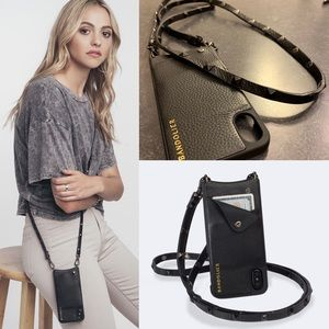 Bandolier IPhone X xs real leather card case bag